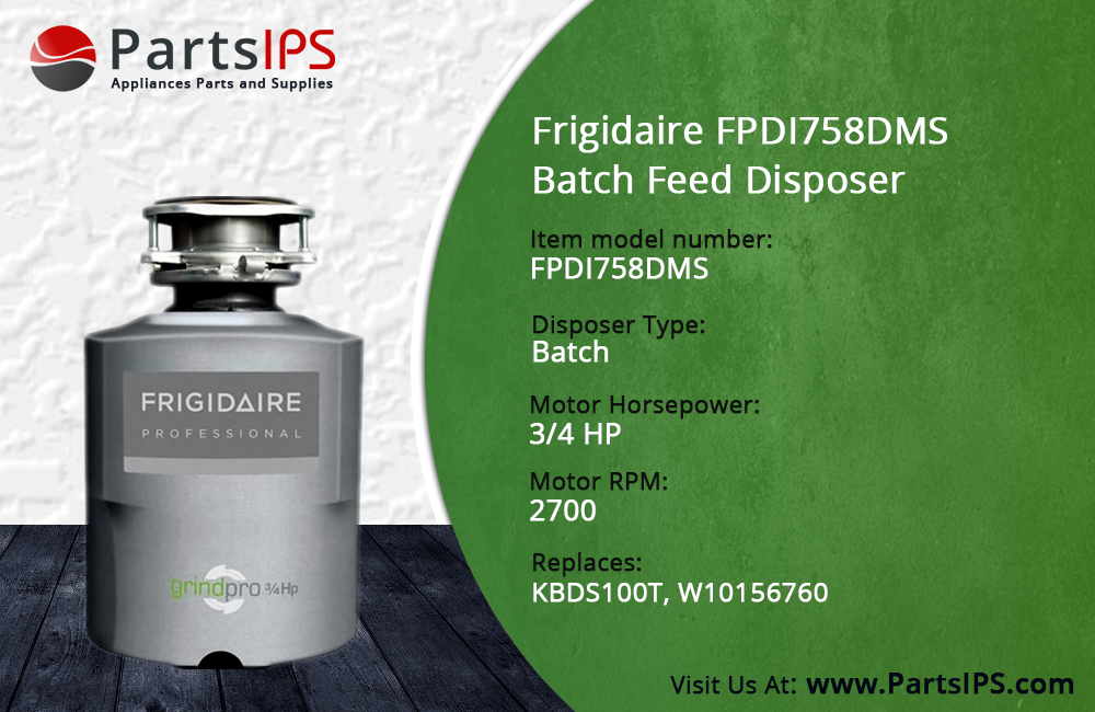 Frigidaire FPDI758DMS Batch Feed Disposer