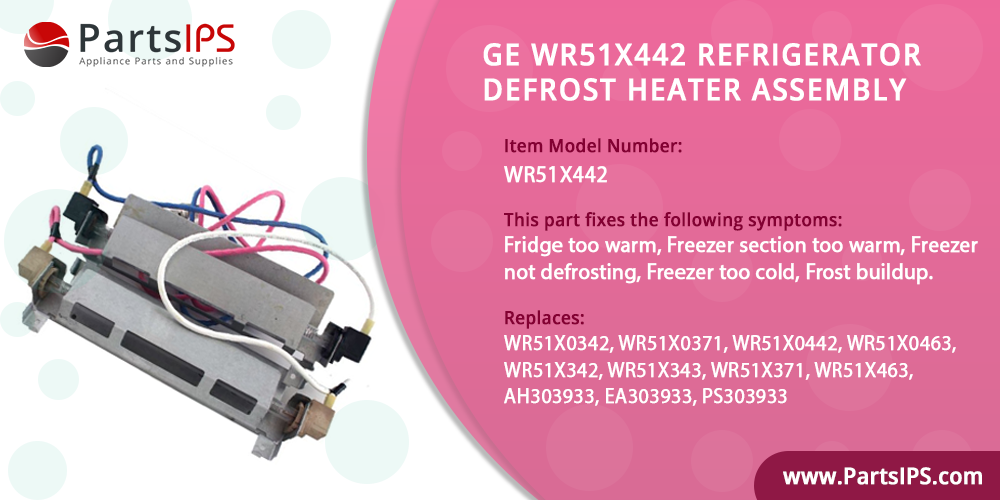GE WR51X442 Refrigerator Defrost Heater Assembly