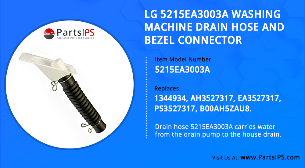 LG 5215EA3003A Washing Machine Drain Hose And Bezel Connector