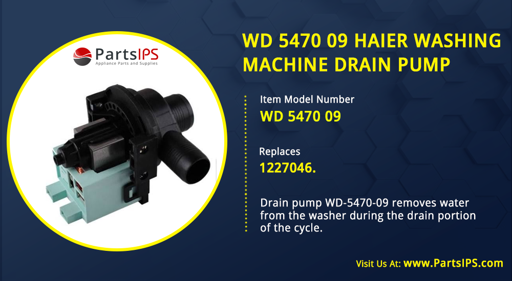 WD 5470 09 Haier Washing Machine Drain Pump