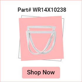 refrigerator french door gasket seal with flap wr14x10238