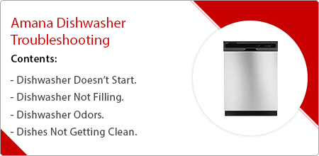 amana dishwasher troubleshooting guide
