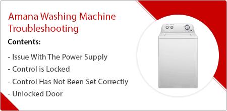 amana washing machine troubleshooting guide