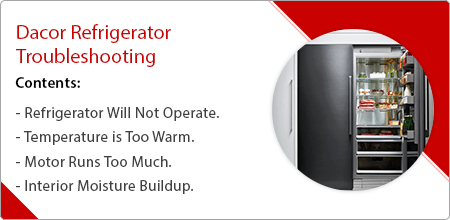 dacor refrigerator troubleshooting guide