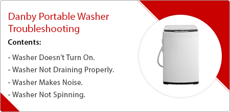 danby portable washer troubleshooting guide