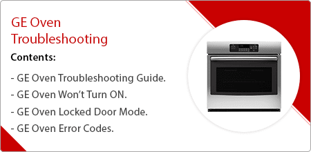ge oven troubleshooting guide