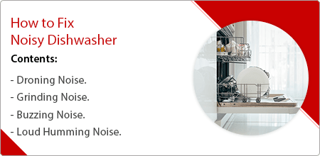 how to fix noisy dishwasher guide