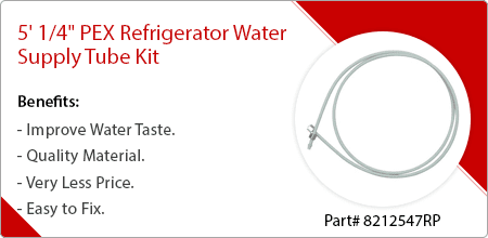 refrigerator water supply tube kit by whirlpool maytag