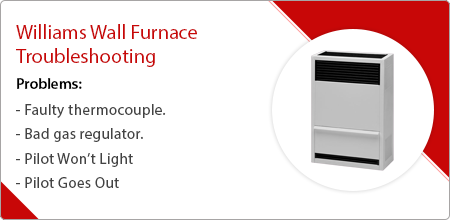 troubleshooting williams wall furnace