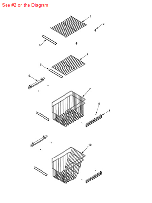 Picture of SUPPORT, FRZ SHELF - Part# C8973801