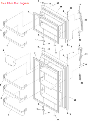 Picture of BIN - DOOR - Part# R0130839