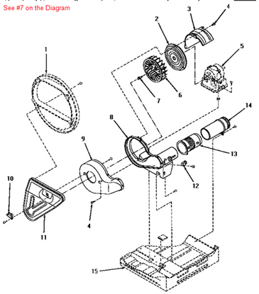 Picture of ASY, DRIVE MOTOR/SWITCH - Part# 13697