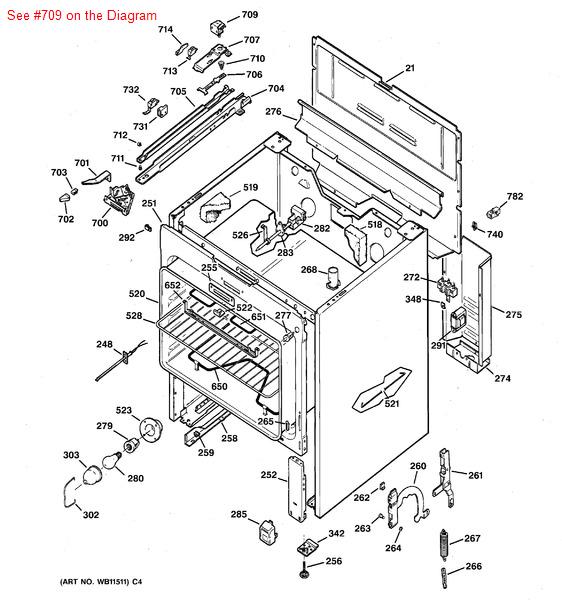 ge general electric hotpoint sears kenmore range oven door