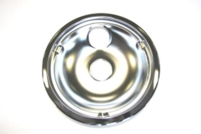 """Picture of GE General Electric Hotpoint Sears Kenmore Stove Range Cook Top 8"""" DRIP BOWL CHROME WITH 2 INDENTS - Part# WB31K5025"""