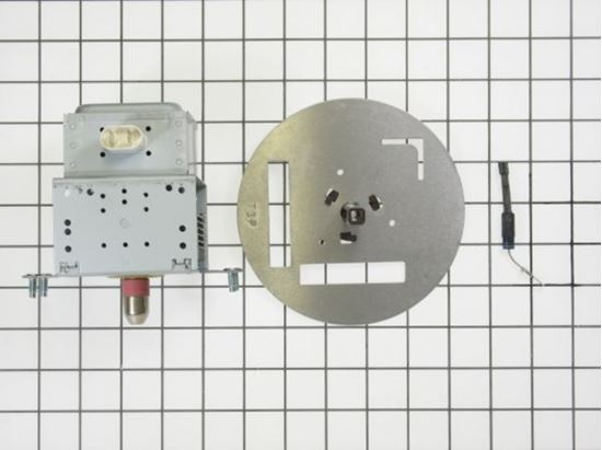 Picture of GE General Electric RCA Hotpoint Sears Kenmore Microwave Oven Magnetron / Diode / Stirrer Assembly - Part# WB49X10226
