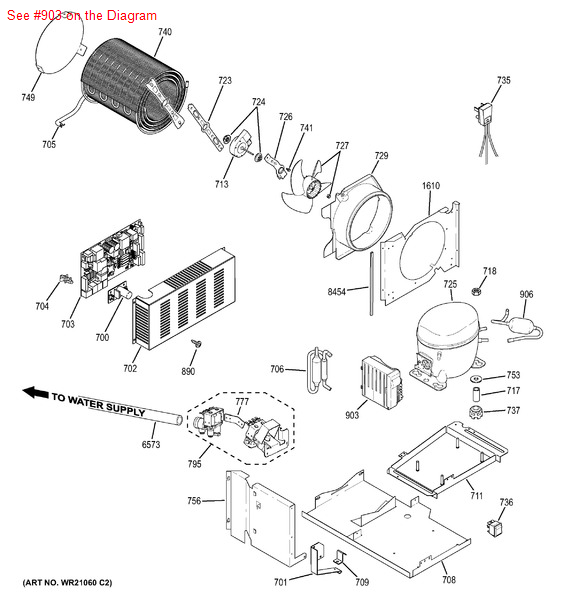 ge general electric hotpoint rca sears kenmore refrigerator compressor mount inverter board