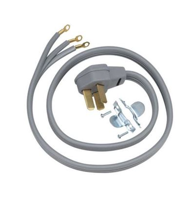 Picture of 6' 40 AMP 3 WIRE RANGE CORD By GE General Electric Hotpoint - Part# WX09X10008