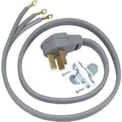 Picture of 6' 50 AMP 3 WIRE RANGE CORD By GE General Electric Hotpoint - Part# WX09X10012