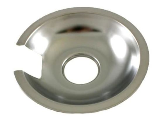 """Picture of Whirlpool Maytag Amana Jenn-Air Range Cook Top 6"""" Chrome Drip Pan - Part# 715877"""