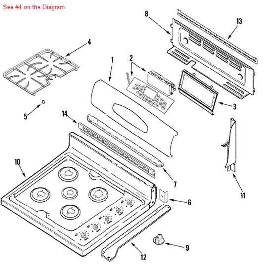 Grate Blk Part 74010125 Appliance Parts And Supplies