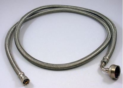 Picture of 5' STAINLESS STEEL DISHWASHER DIRECT CONNECT SUPPLY LINE FILL HOSE - Part# 41042