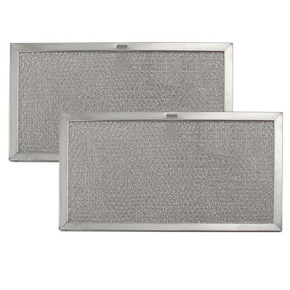 Picture of Broan Nutone Sears Kenmore Microwave Oven Range Vent Hood Aluminum Grease Filter Kit - 2 PACK - Part# 97007893