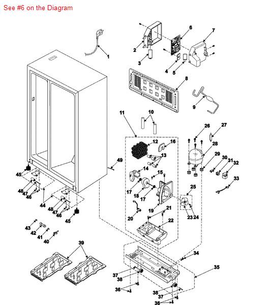 samsung sears kenmore refrigerator pba main electronic printed circuit control board da41