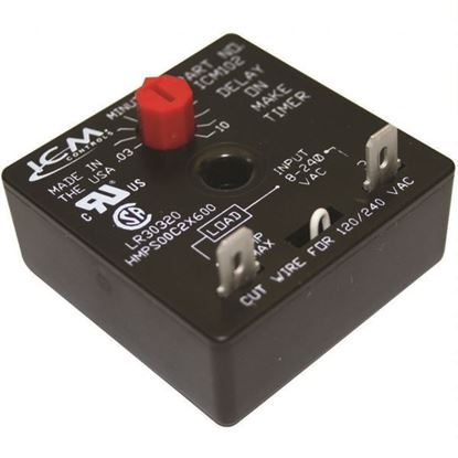 Picture of A/C Air Conditioning, Refrigeration and Heat Pump Delay-on-Make Timer with .03-10 minute adjustable delay, 18-240 VAC - Part# ICM102