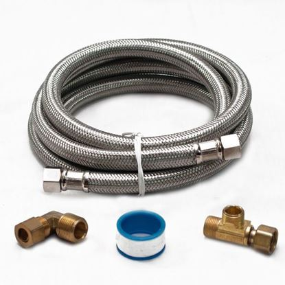 Picture of 6' Stainless Steel Braided Dishwasher Waterline Installation Kit by Electrolux Frigidaire - Part# 5304493868