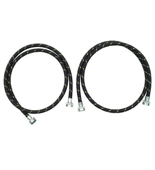 Picture of 5' Nylon Braided Clothes Washer Washing Machine Fill Hose Kit - 2 Pack - by Whirlpool Maytag - Part# 8212487RC