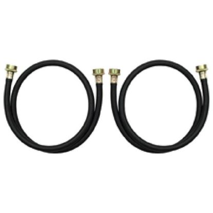 Picture of 4' Clothes Washer Washing Machine Black Rubber Fill Hose Kit - 2 Pack By Whirlpool Maytag - Part# 8212546RP