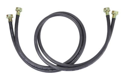 Picture of 5' Black EPDM Rubber Clothes Washer Hose Kit - 2 Pack - by Whirlpool Maytag - Part# 8212641RP
