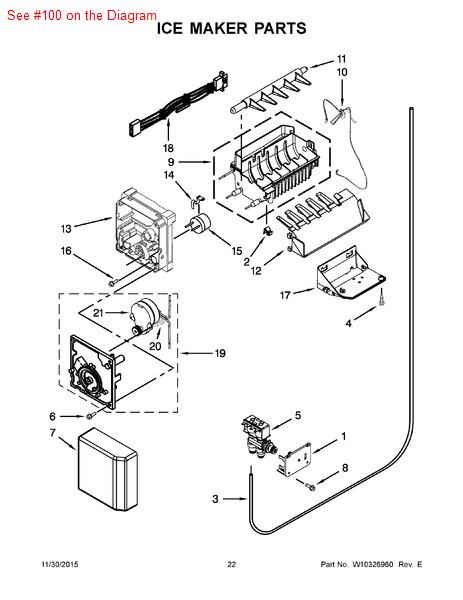 Kitchenaid Refrigerator Ice Maker Parts List Wow Blog