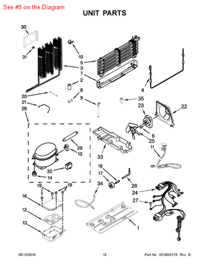 Evaporator Part W10321158 Appliance Parts And Supplies