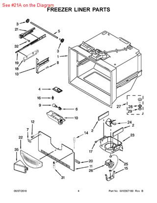 Picture of ADAPTER-RH - Part# W10544404