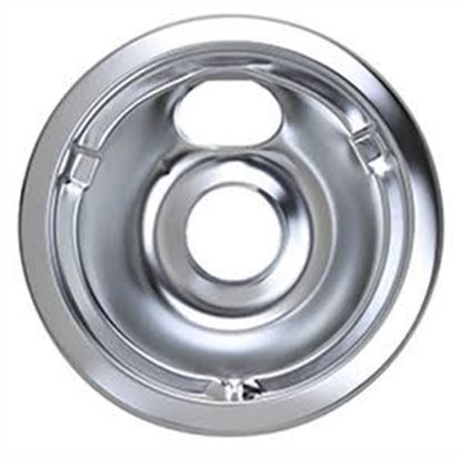 "Picture of GE General Electric Hotpoint Sears Kenmore Range Stove Cook Top 6"" DRIP PAN CHROME - Part# WB32X10012"