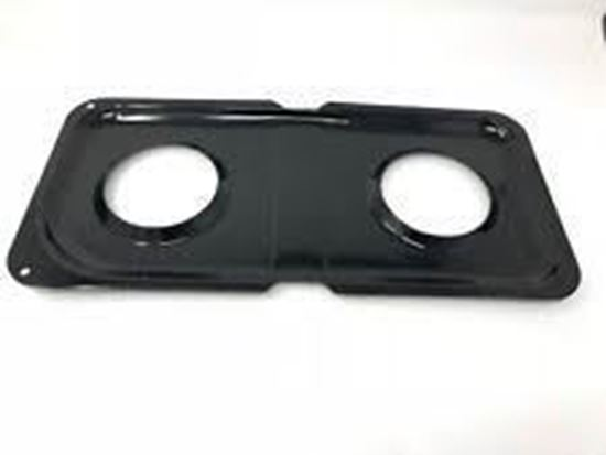Picture of GE General Electric Hotpoint Sears Kenmore Range Stove Cook Top Black Left Side Double Burner Drip Pan - Part# WB34K10010
