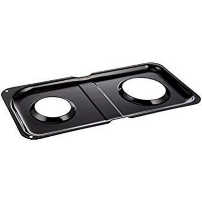 Picture of GE General Electric Hotpoint Sears Kenmore Range Stove Cook Top Black Right Side Double Burner Drip Pan - Part# WB34K10009