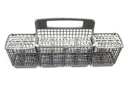 Picture of Whirlpool KitchenAid Roper Amana Jenn-Air Maytag Gaffers and Sattler Magic Chef Sears Kenmore Admiral Dishwasher SILVERWARE CUTLERY BASKET - Part# W10807920
