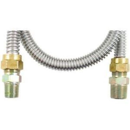 """Picture of FLEX LINE, GAS W/FITTINGS 5/8"""" X 48"""" - Part# 30-3141-48"""